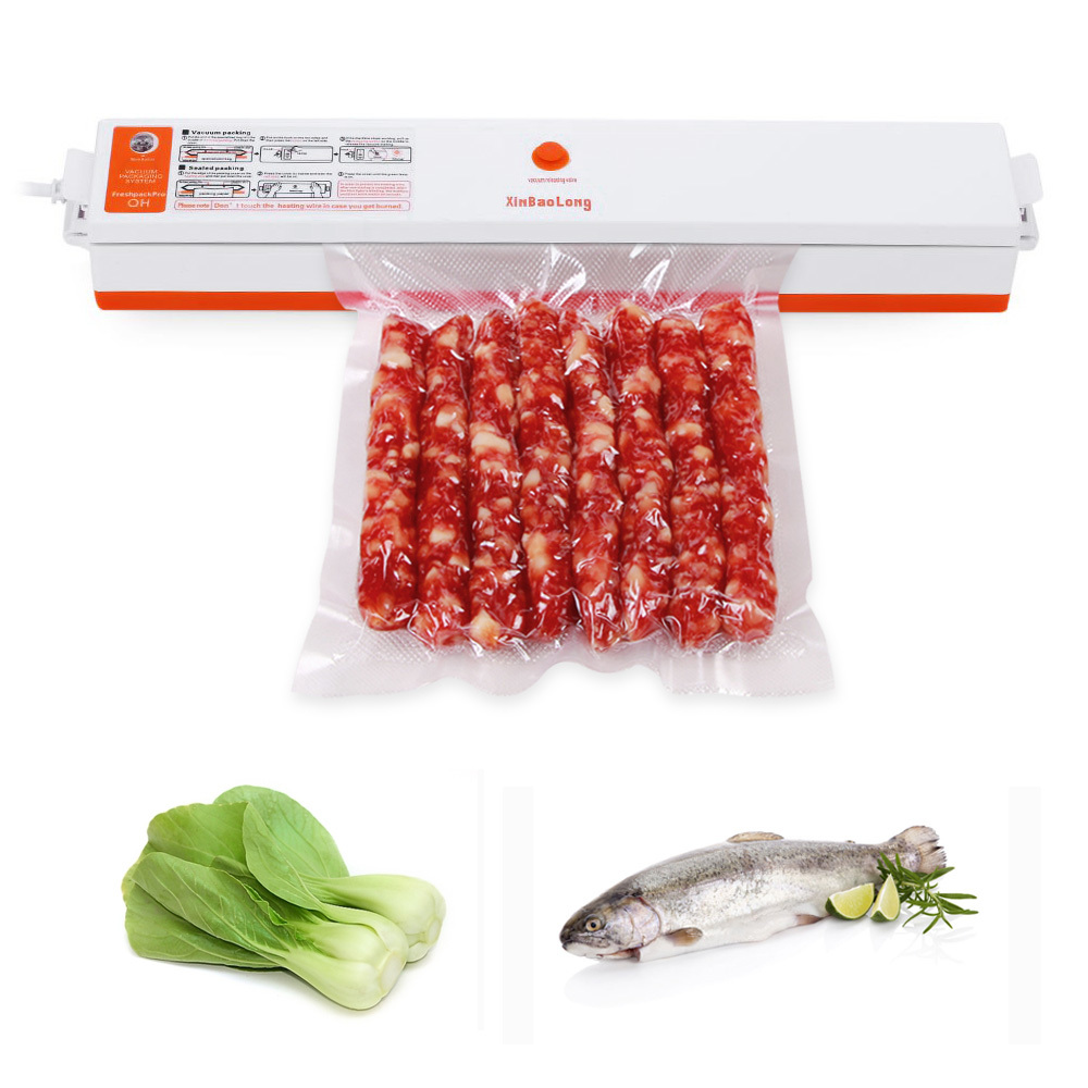 XINBAOLONG Electric Vacuum Food Sealer Automatic Vacuum Packing Plastic Sealing Machine Household Kitchen Appliances with Bags