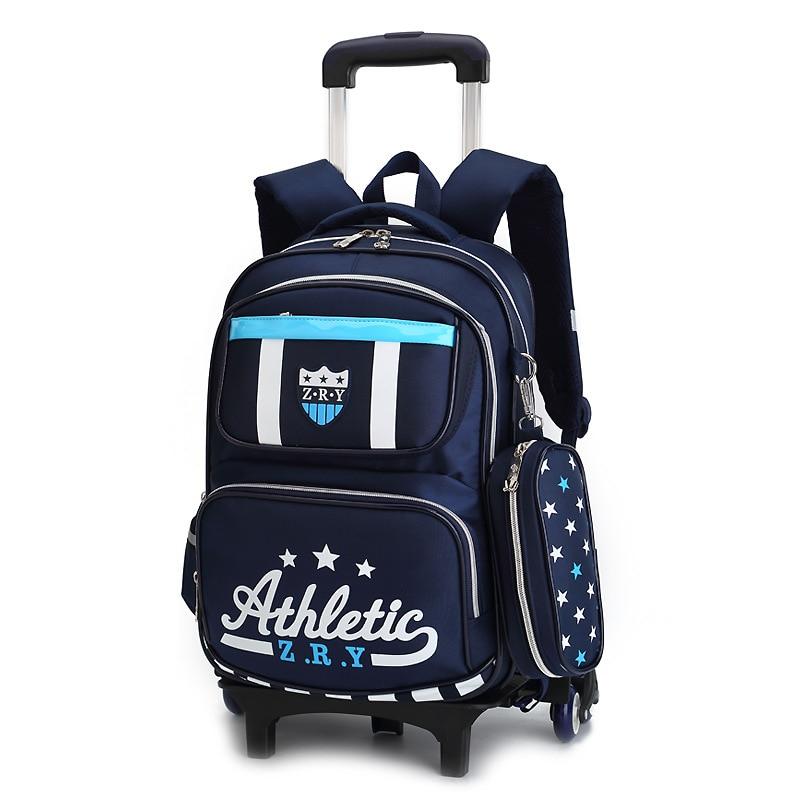 28cca05752c7 Removable Children Wheels bags Trolley School Bags boys girls Kids  backpacks Schoolbag Luggage Book Bag Wheeled Backpack kids