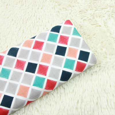 half meter twill thicken cotton fabric with geometric print handmade DIY bag pillow back cushion cloth T546 in Fabric from Home Garden