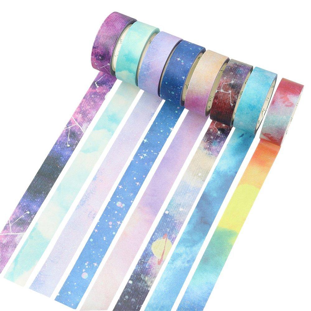Colorful Dreamy Sky Washi Tape Adhesive Masking Tape DIY Decoration Sticker Stationery