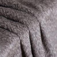 JaneYU 2019 New Arrived Thicker Mixed Camel coloured Alpaca Wool Fabric Sully Wool Overcoat Fabric