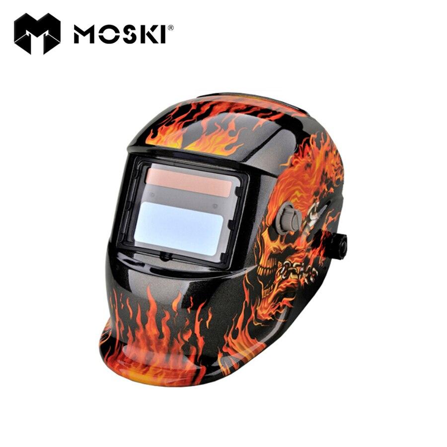 MOSKI ,Solar Auto Darkening MIG MMA Electric Welding Mask/Helmet/welder Cap/Welding Lens for Welding Machine
