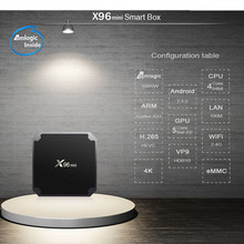 X96 mini Smart Android TV BOX 2GB 16GB Amlogic Quad Core support 4K 2.4GHz WiFi IPTV Set top box TVBOX TV Receiver 5pcs original ipremium tvonline android tv box smart iptv set top box receptor decoder tv receiver