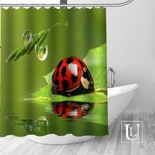 Custom Beatle Shower Curtain Multi Size Shower Curtain Includes 12 Plastic  Hooks Antibacterial Easy To Hang