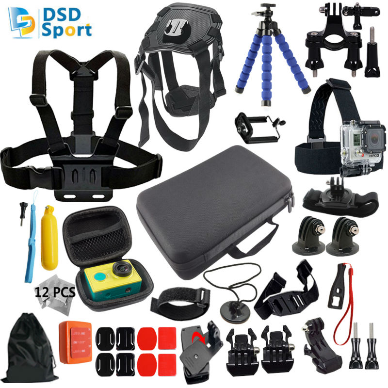 ФОТО Gopro accessories set dog harness hero 5 for go pro hero 5 4 3 mount for xiaomi yi camera eken h9 tripod sjcam sj4000 sj5000 11A