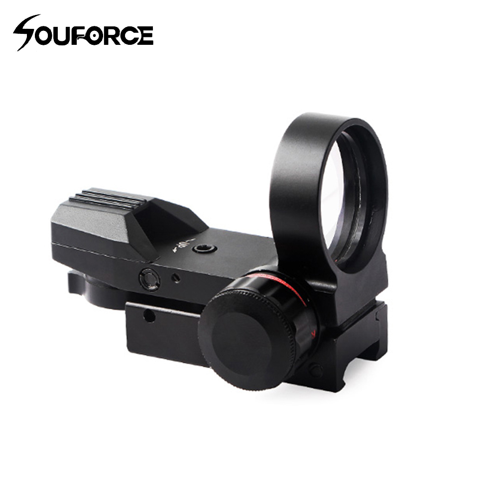 New Tactical Red Dot Sight Four Quasi-heart Settings Models Sight Adjustable Fit 20mm Rail Mount For Hunting