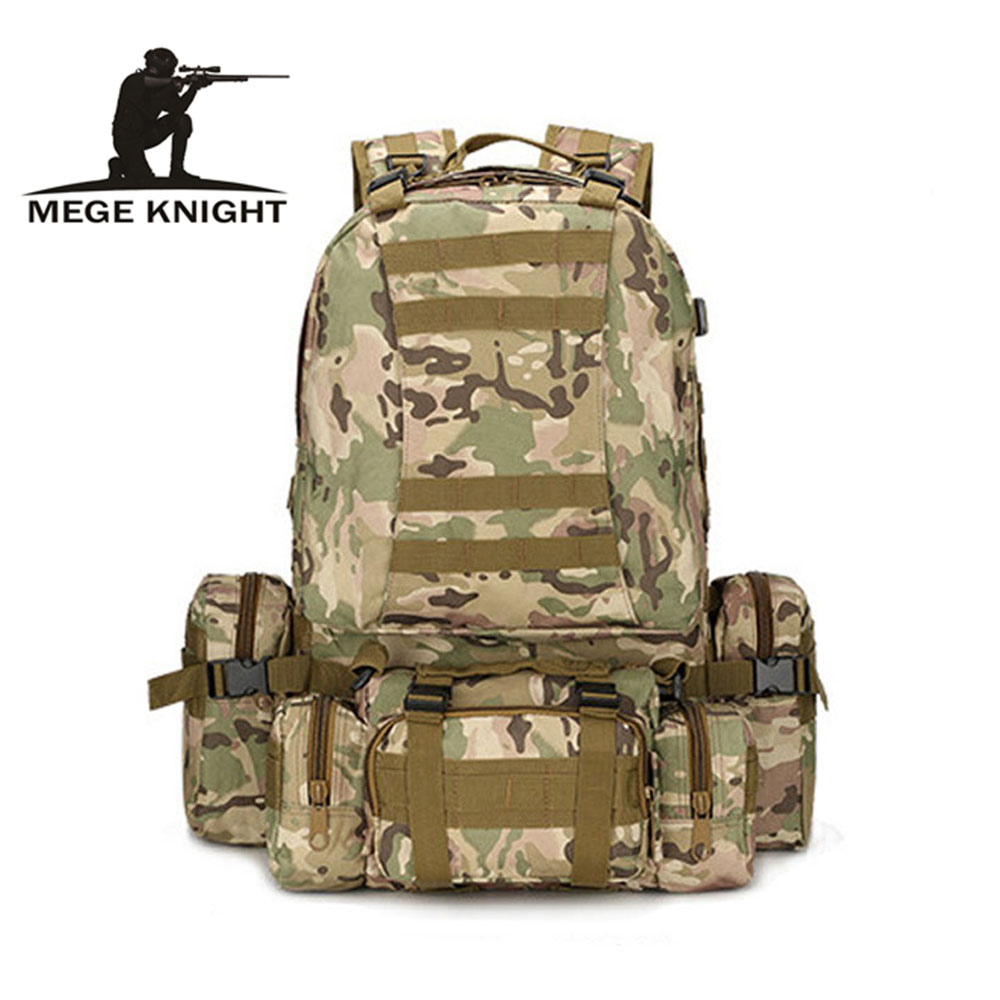 MEGE KNIGHT Brand Military Travel Camouflage Backpack Multi-function Large Capacity Backpack Military Equipment Military Gear цена 2017