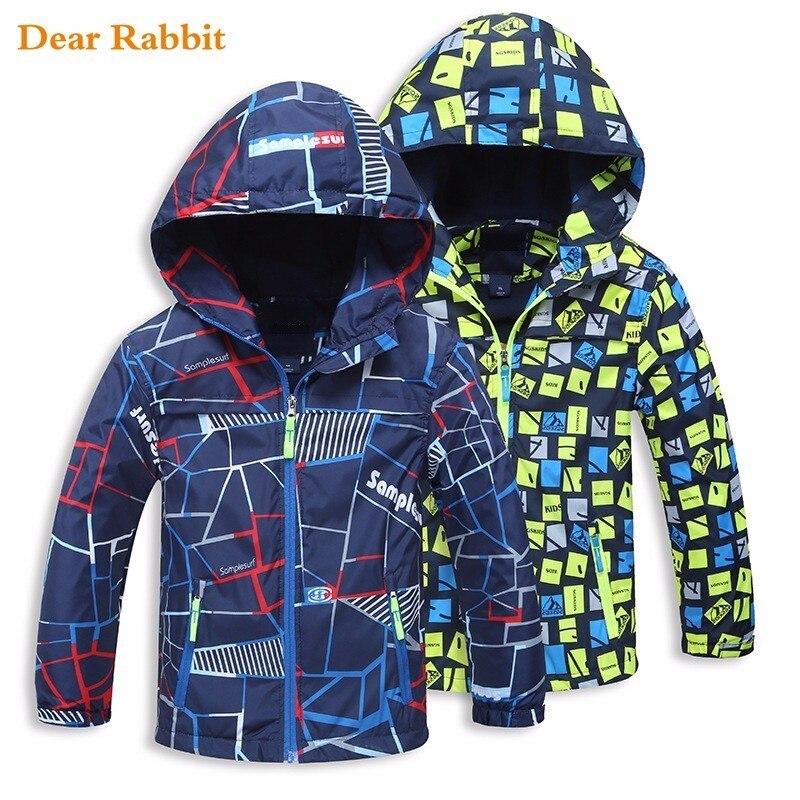 Осень 2017 г. верхняя одежда для детей, куртки модная спортивная детская куртка пальто двухэтажные Водонепроницаемый ветрозащитный мальчико...