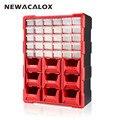 NEWACALOX 39 ящик большой Органайзер оборудование и мастерская бытовой ящик для инструментов пластиковое хранение мелких деталей мульти шкатул...