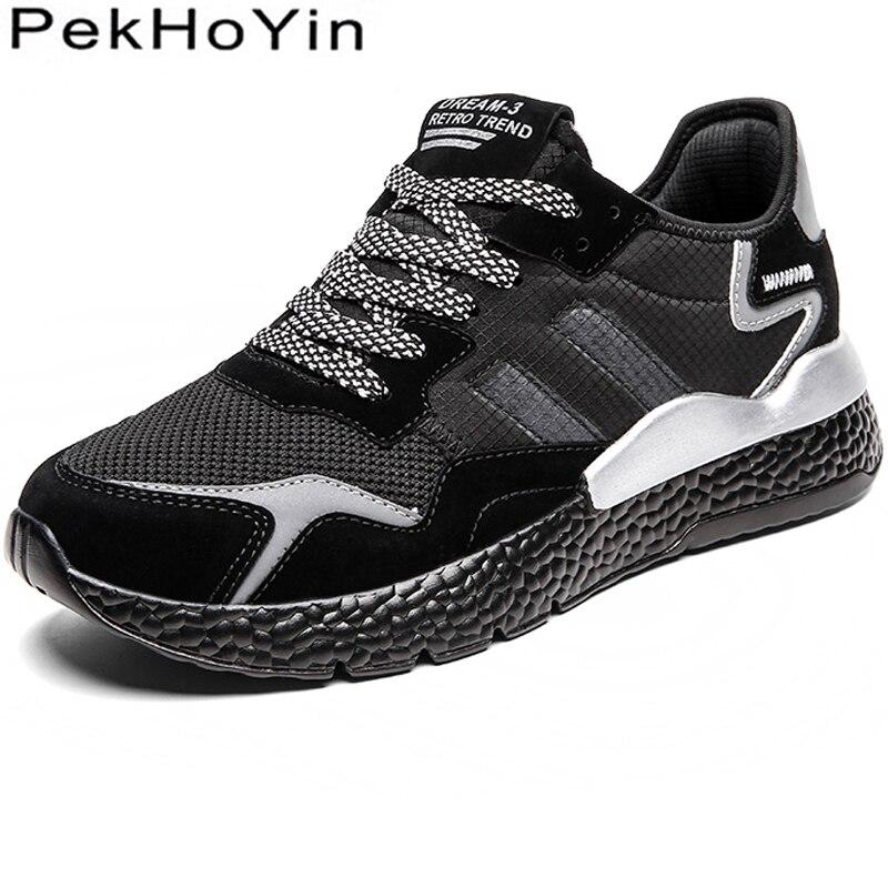 94f55c58581 Толстая подошва мягкие для мужчин повседневная обувь большой размеры модные  кроссовки мужская обувь для ходьбы открытый