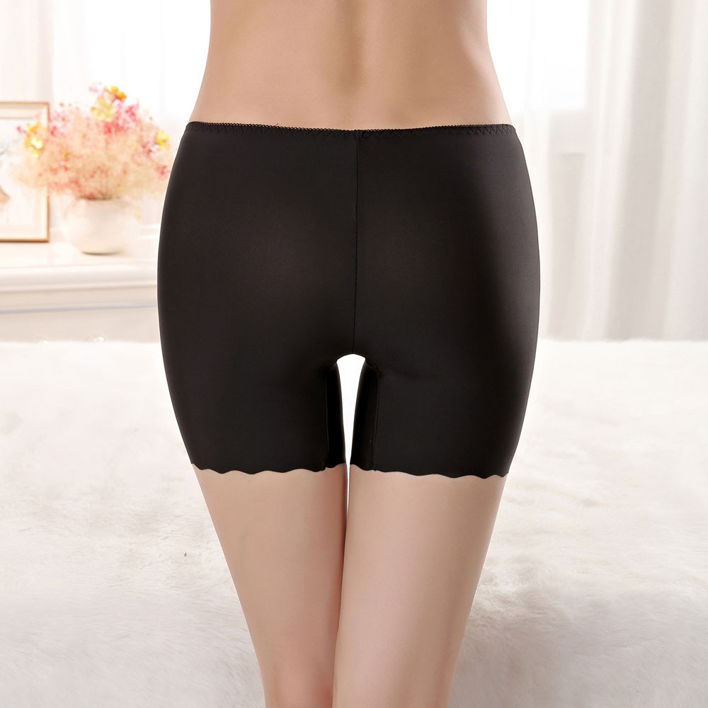 Для женщин шорты безопасности штаны бесшовные нейлоновые Высокая талия трусы бесшовное нижнее белье, трусы, штаны для девочек, Корректирую...