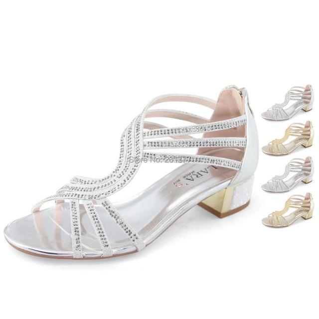 0b45431a0 Lara de t bar com tiras sandálias de salto médio sapatos mulher ouro prata  rhinestone glitter