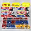 295pcs Assorted Full Insulated Fork U-type Set Terminals Connectors Assortment Kit Electrical Crimp Spade Ring