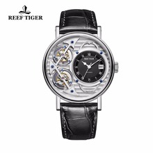 Reef Tiger/RT Designer Fashion Watches Mens Automatic Luxury Brand Waterproof Watches RGA1995 (Non-moving Double Tourbillon)