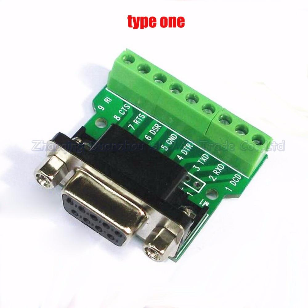 db9 serial port female socket turn to wiring terminal dr9 db9 female turn to terminal [ 1000 x 1000 Pixel ]