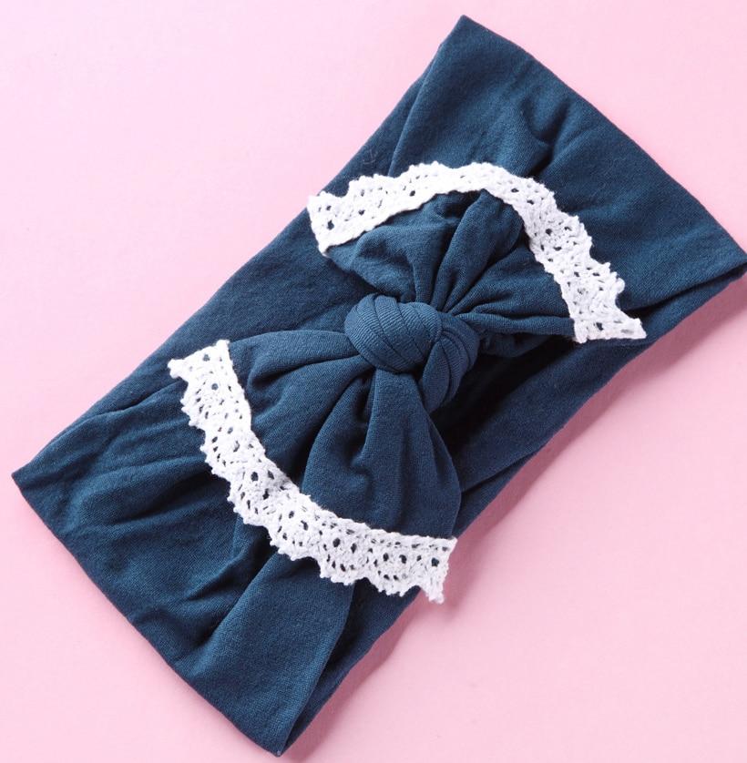 24PC lot Soft Wide Nylon Turban Headband Cute Newborn Donuts Headband Cable knit headwraps Babe Girls