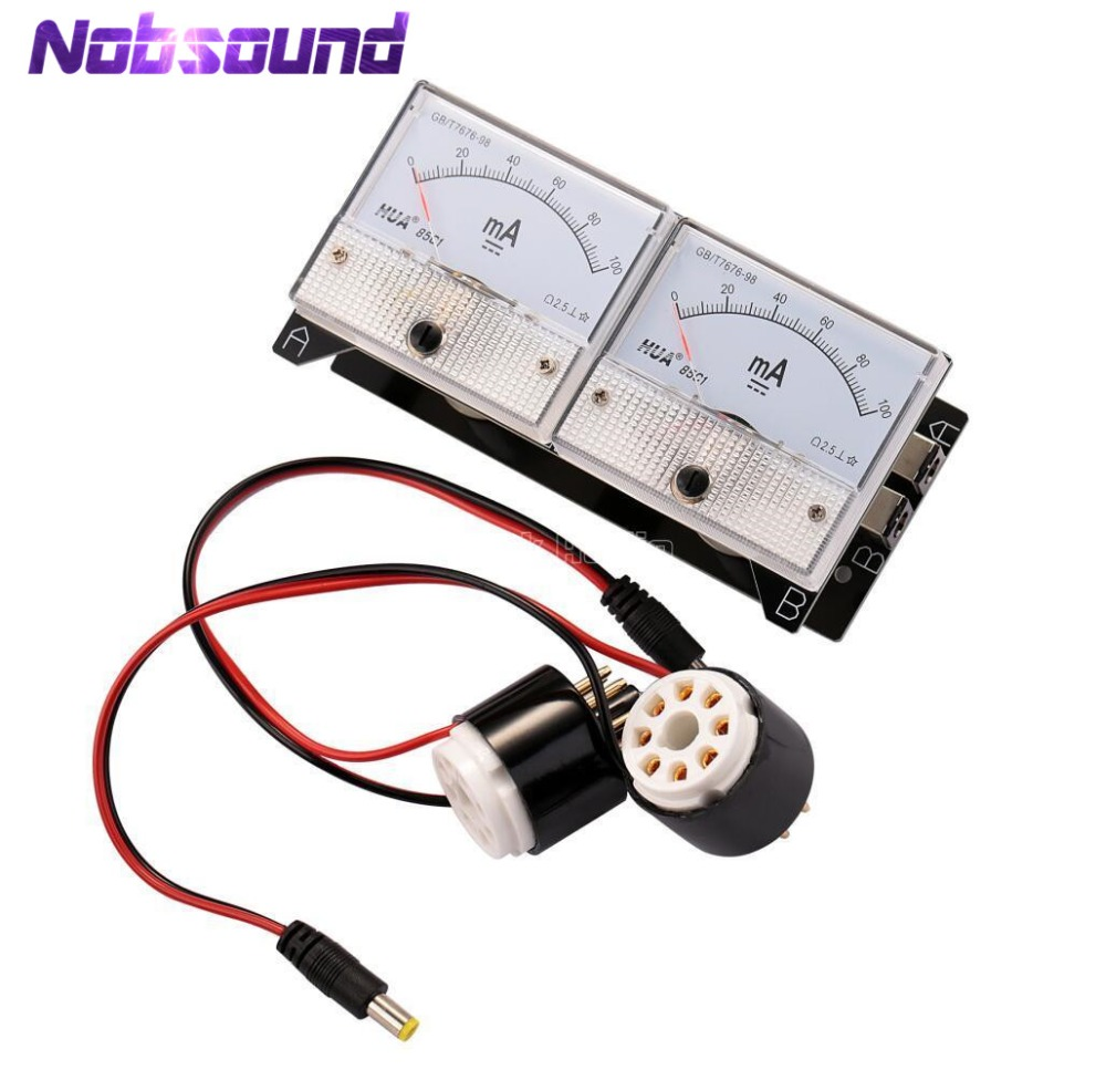 Nobsound Dual Bias Current Probes Tester Meter for EL34 KT88 6L6 6V6 6550 Vacuum Tube Amplifier