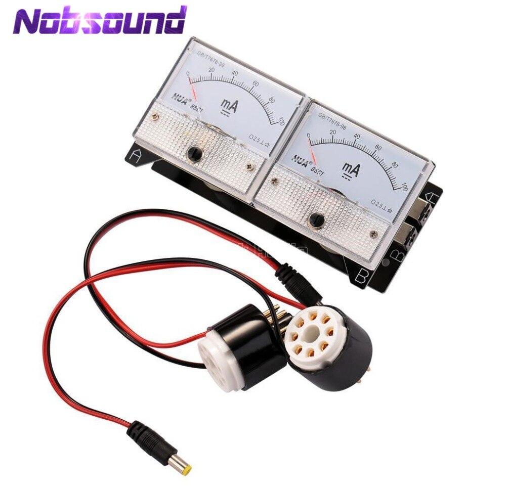 Nobsound Dual Bias Current Probes Tester Meter For EL34 KT88 6L6 6V6 6550 Vacuum Tube Amplifier