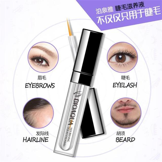 BIOAQUA Original Eyelash Growth Treatments 7 Days Longer Thicker Enhancer Serum Growth Eyebrows Beard Hairline Eyes Care 3