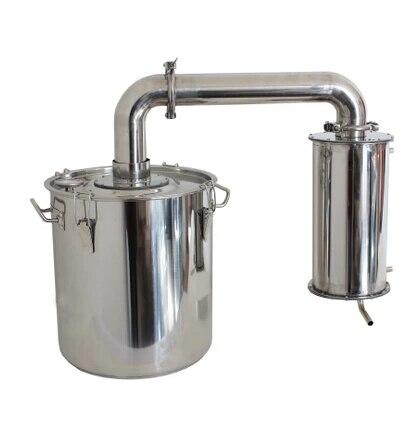 18L inox eau éthanol alambics spiritueux brassage Pot encore alcool distillateur chaudière à vin
