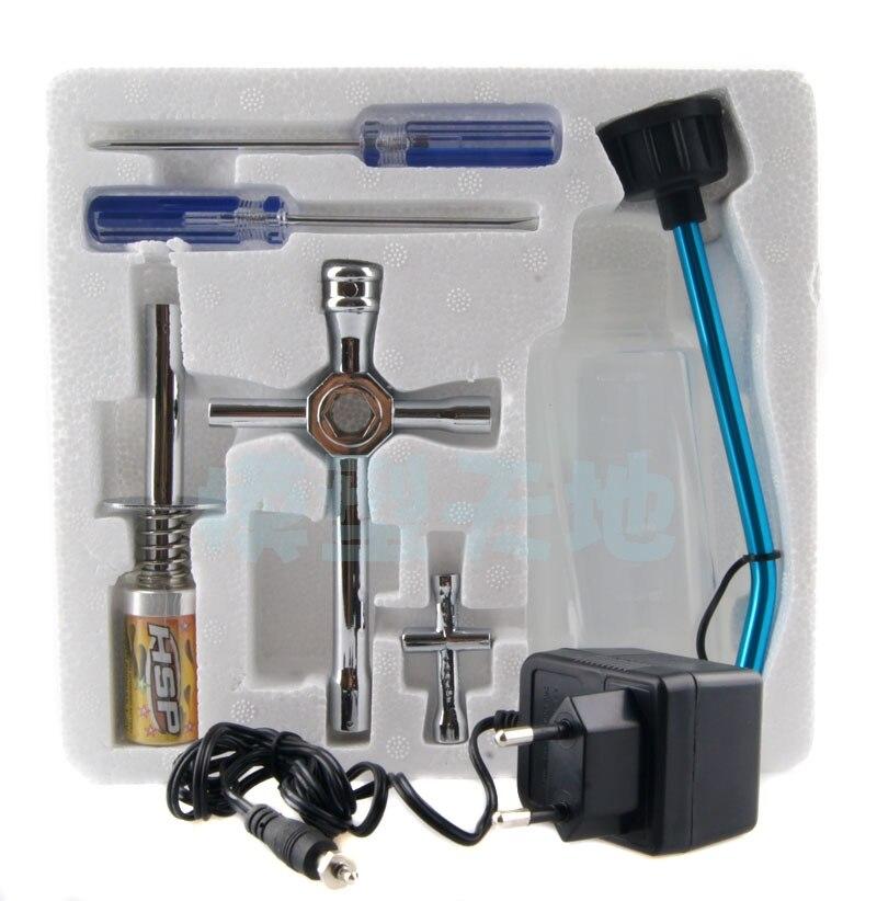 HSP Nitro Двигатели для автомобиля Инструменты комплект, 7 в коробке, включают Аккумуляторная Запальные свечи и зарядное устройство, для RC Nitro ав...