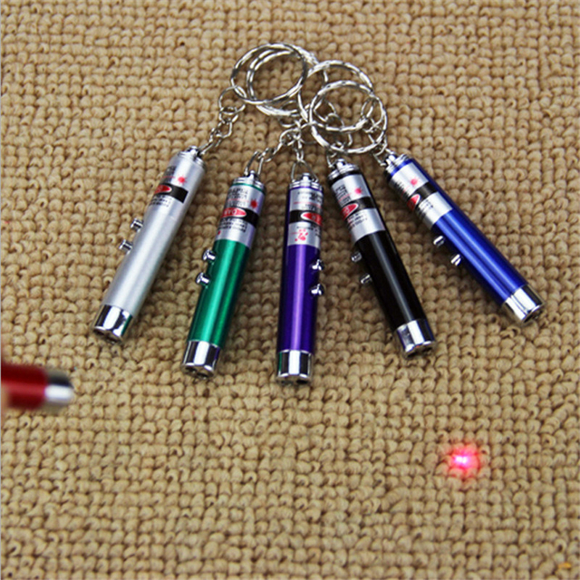 Fashion Random Color 1Pc Red Laser Pointer Pen Funny Children Play White LED Light Pet Cat Toys
