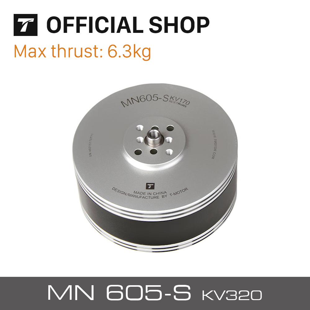 T-motor Newest 8.1KG+ Thrust MN605-S KV320 2Pcs/Set Waterproof Electrical Brushless Motor For FPV Racing VTOL Drone x6210 kv320 24n28p agriculture drone brushless motor dustproof and waterproof thick line 1 pcs
