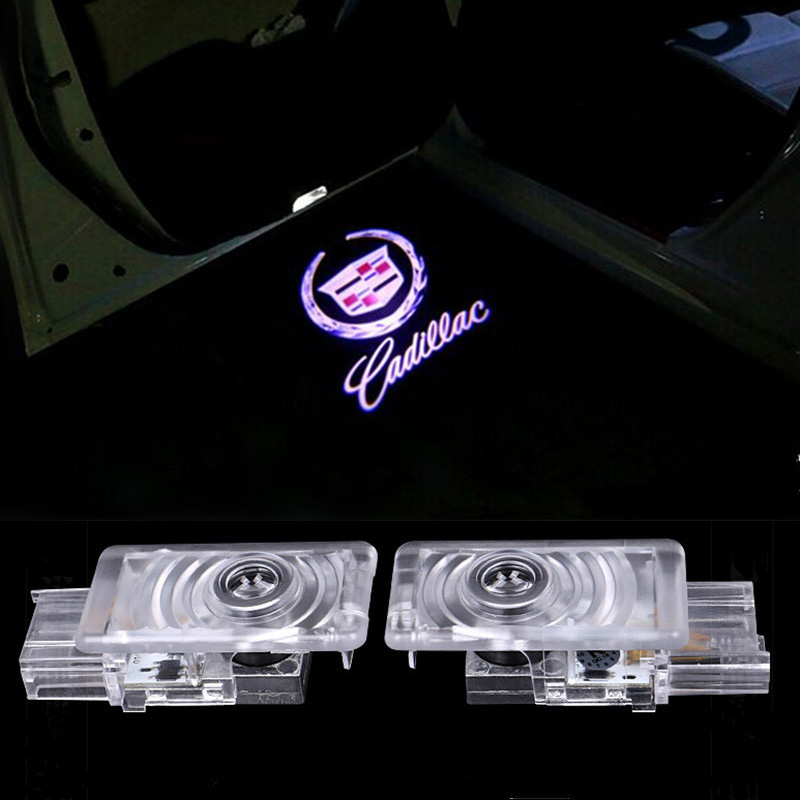 2X Car door Led Welcome laser projector Logo Ghost Shadow Light For Cadillac ATS SRX XTS 2 x newest led car door light ghost shadow light welcome laser projector logo for fiat panda doblo ducato bravo stilo 500 punto