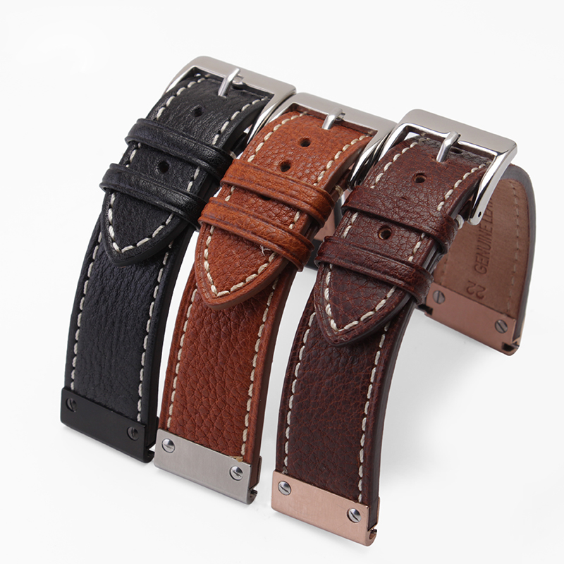 New High quality Genuine leather Watchband leather Strap  22mm for JPW601  free shipping