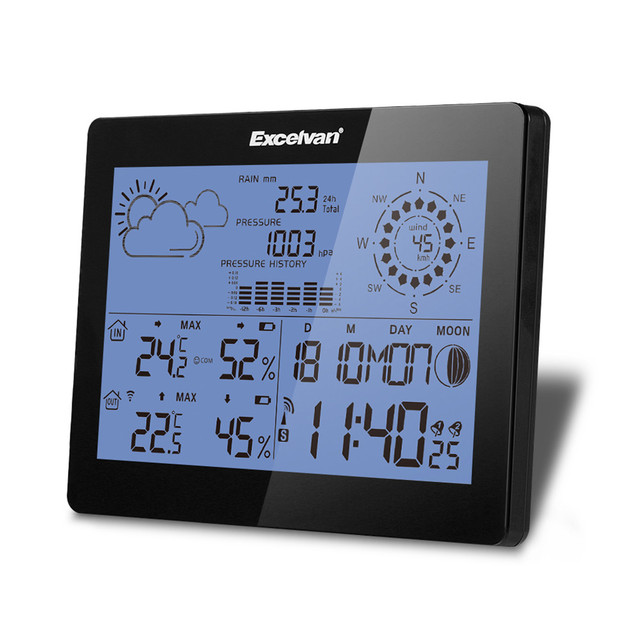 EXCELVAN Wireless Weather Station With Forecast ...