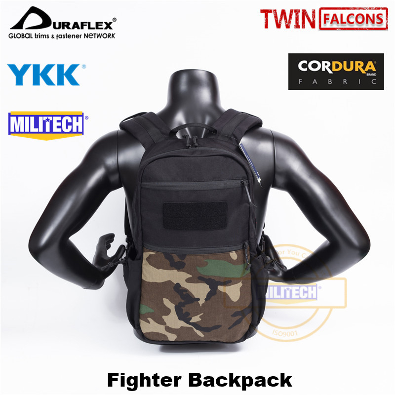 MILITECH TW Fighter Day Pack 14L Backpack Army Waterproof Bug Out Bag Rucksack Outdoor Hike Camp LBT 8005 London Bridge Tactical