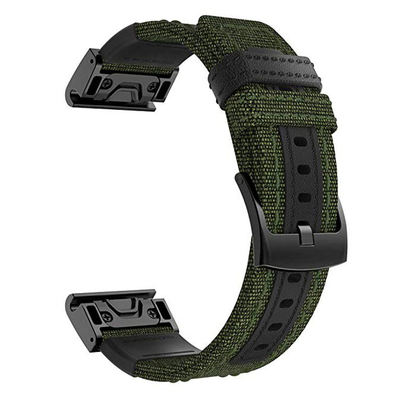26mm Quick Fit Watch Strap For Garmin Fenix 5X Plus 3 3HR Nylon Woven Sport Watchband Brecelet Wrist Strap Band For Fenix 5X Man