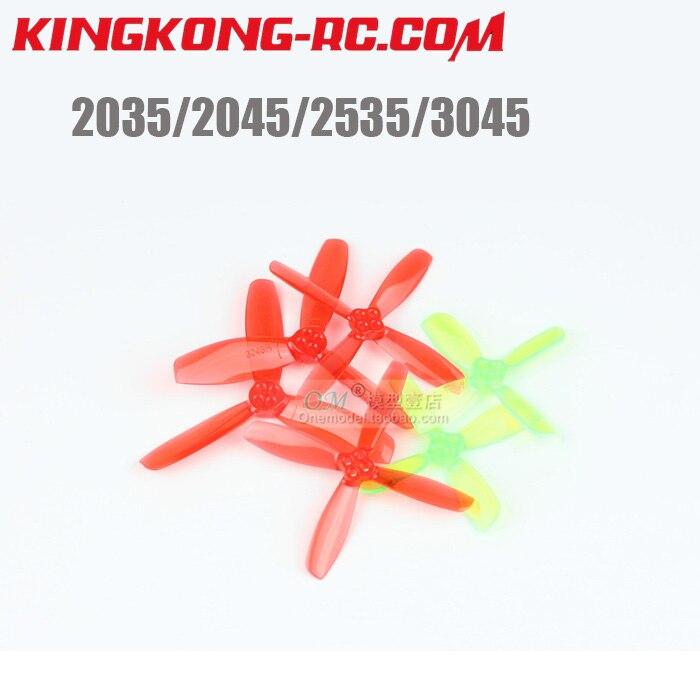 (10 Pairs) Ldarc/kingkong 2035 2045 2535 3045 Fpv Mini Pc 3-klinge/4-klinge Propeller 1,5mm Montage Loch Für Fpv
