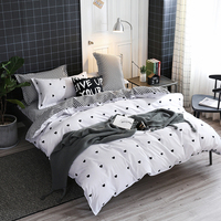 Kid full king Warm winter duvet cover set bedsheet White bedding Valentine's Day Gift Love bed cover set ropa de cama