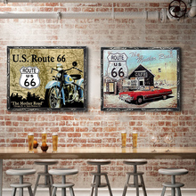USA Vintage Metal Tin Signs Route 66 Bar Wall Decoration Sign Poster Home Decor Plaques Art 30*20