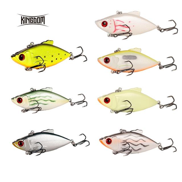Kingdom Fishing Lures 50m 5.6g, 65mm 10.5g Crankbaits Fishing Small Leaves VIB Vibration Fishing Bait Tackle VMC Hook wobblers 5