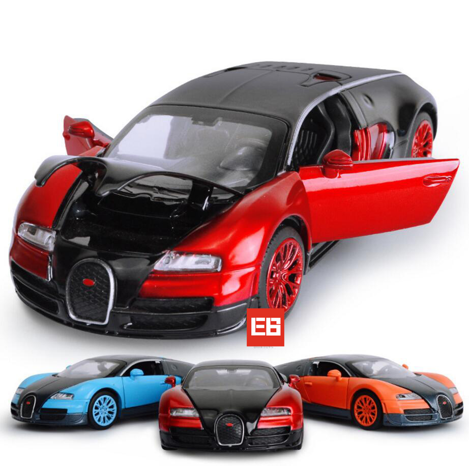 hot 1 32 scale wheels diecast super sports cars bugatti veyron metal model with light and sound. Black Bedroom Furniture Sets. Home Design Ideas