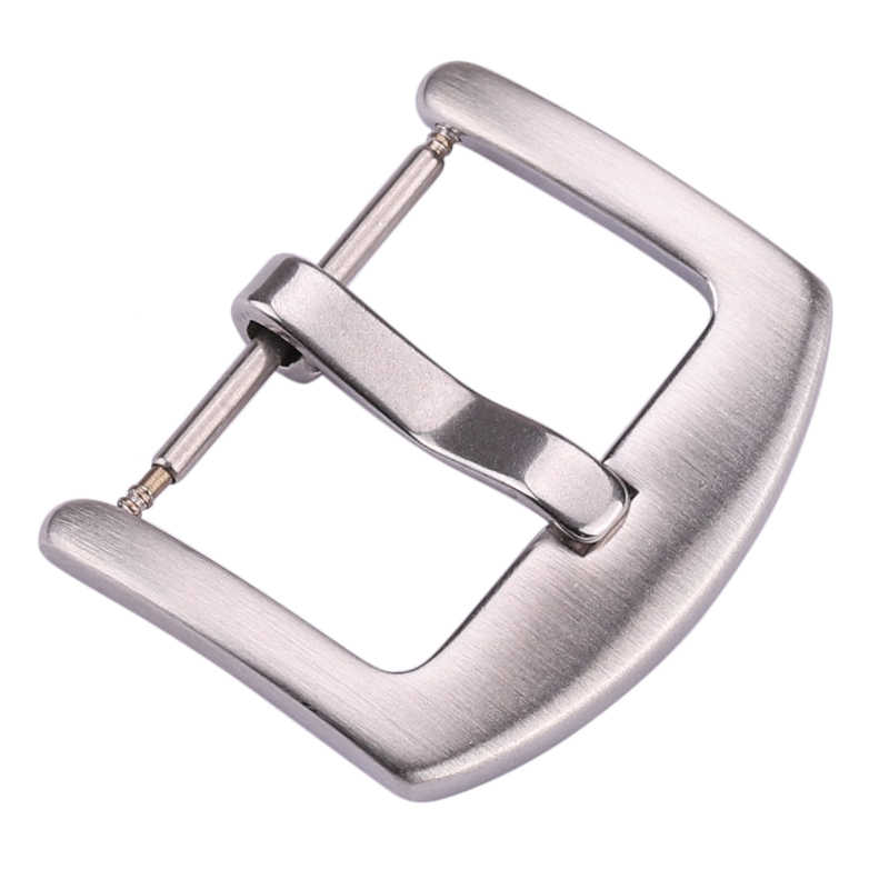 Venta al por mayor 18mm 20mm 22mm 24mm correa de reloj de Metal hebilla de hombre correa de reloj de plata sólida accesorios de cierre de acero inoxidable
