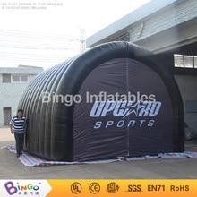 Персонализированные 5×4.5×3.5 метров надувные палатки туннель черный цвет логотипа взорвать туннель с вентилятором Оксфорд игрушка палатка