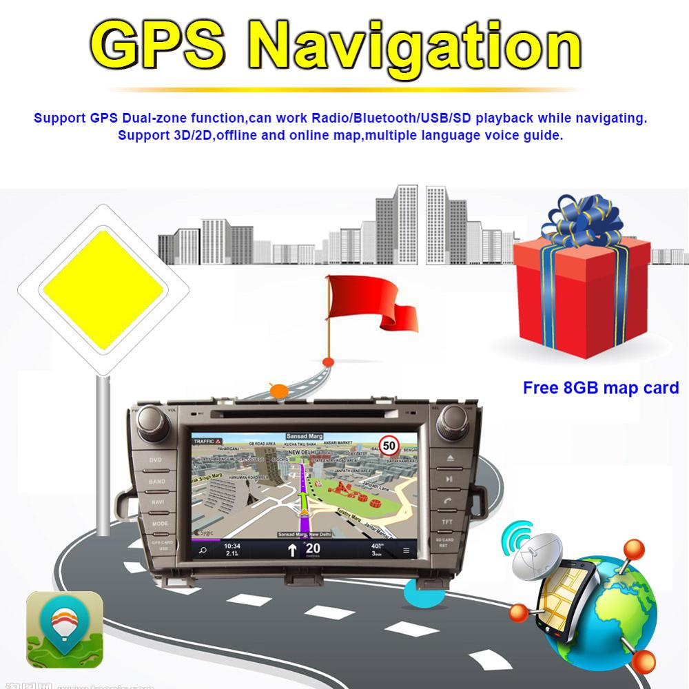 Top Android 8.0 Octa Core 4GB RAM Car Radio Stereo GPS Navigation For Toyota Prius 2009- Left Hand Driving DVD Multimedia Player 11