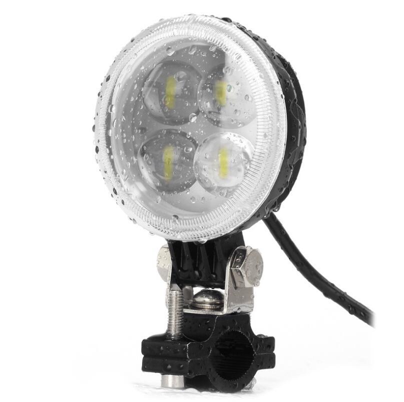 2pcs Electric car light refit strong light external LED spotlight battery car LED headlight 12V waterproof lamp Free shipping