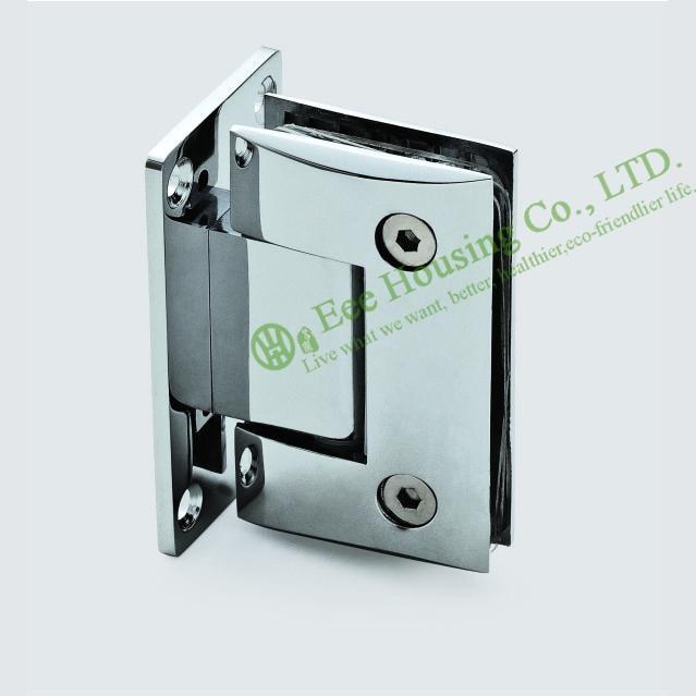 Стеклянные зажимы, нержавеющая сталь настенное крепление дверная петля для душа, ванная комната стеклянная дверная петля, зеркальная отделка держатель для стеклянных дверей/разъем
