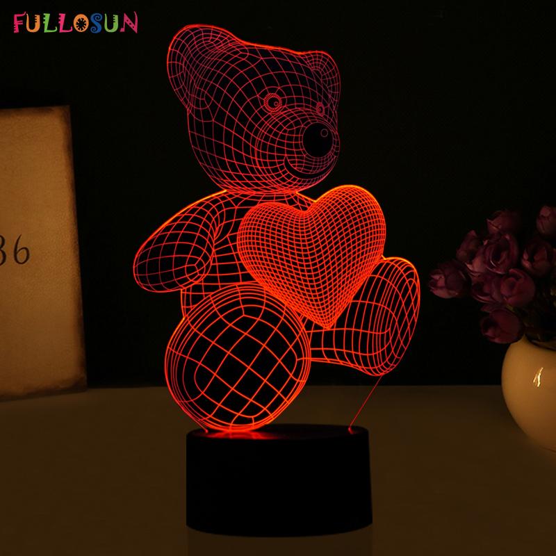 HTB12vliRVXXXXaVapXXq6xXFXXX8 - Lampka Nocna Led 3D Miś