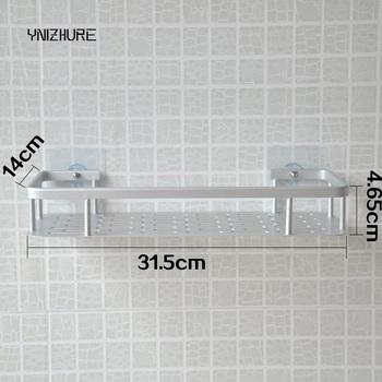 Kuchnia łazienka łazienka kreatywna półka przyssawka ścienna przestrzeń aluminiowa półka do przechowywania pojedyncza warstwa gwoździ bez dziurkacza tanie i dobre opinie Jeden poziom Ze stopu aluminium ze stopu aluminium CORNER YNIZHURE Typ ścienny Polerowane Łazienka półki