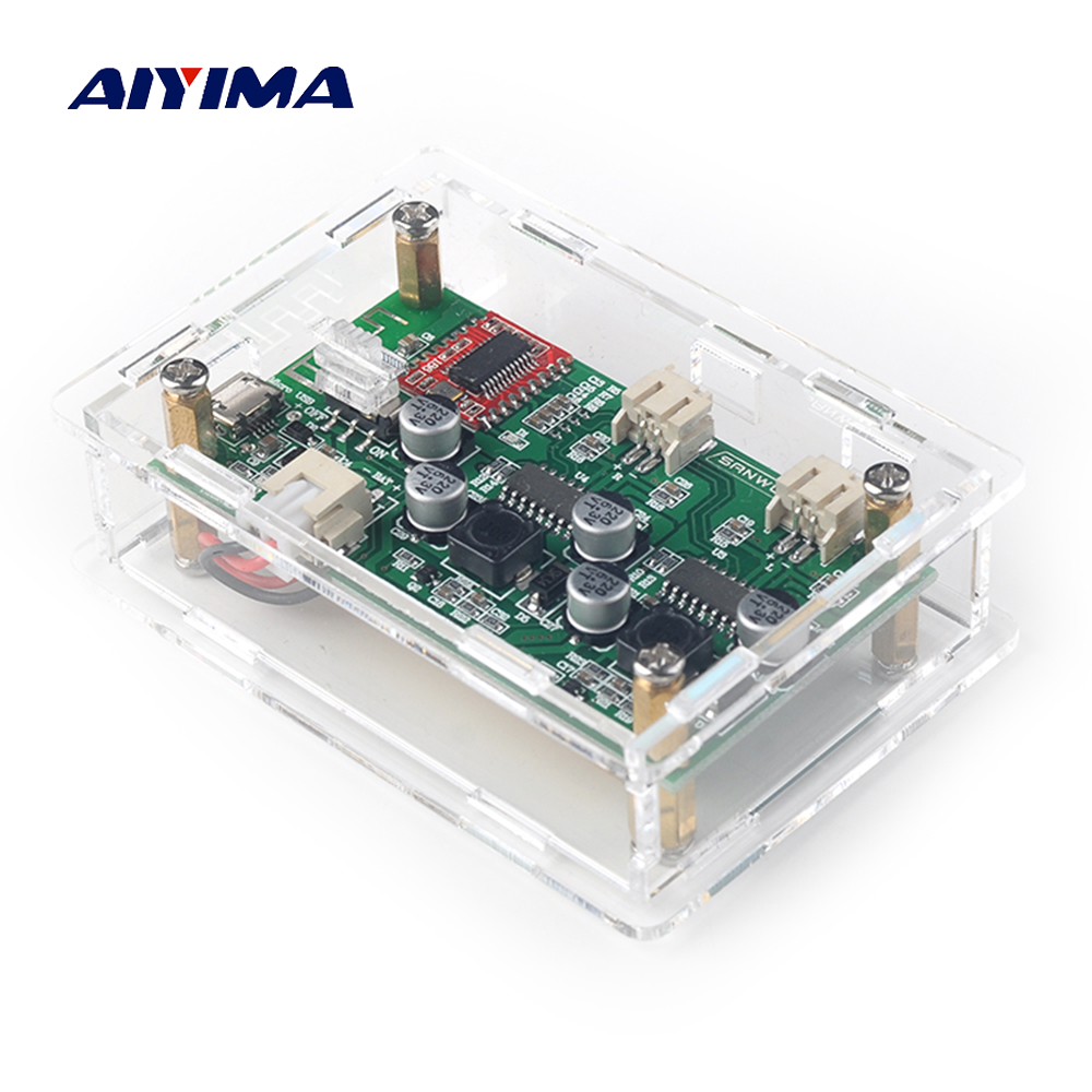 Aiyima Bluetooth Amplifier Board 2x6w Stereo Receiver How To Build Speaker Box Audio Amp Modified Diy Lithium Battery Power With Case In From Consumer