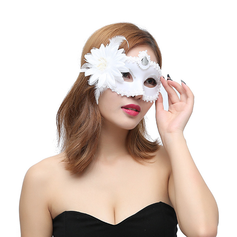 Sexy Women Masquerade Plastic Flower Mask For Festival Party Prom Mardi Gras BMF88