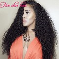 Hot sale Unprocessed Peruvian Wigs Human hair 180% Density Curly Left part side Glueless U part Virgin Hair Wigs Instock