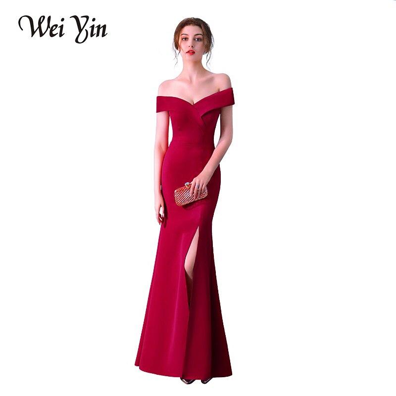 weiyin robe de soiree hot sell v neck floor length women. Black Bedroom Furniture Sets. Home Design Ideas