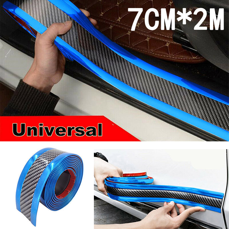 Truck Anti collision Strip SUV Rear Front Exterior Side Protector Edge Replacement Carbon Fiber Blue in Styling Mouldings from Automobiles Motorcycles
