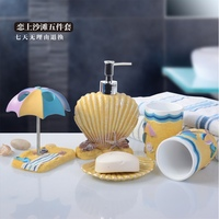 high quality resin Bathroom Set 5pcs/set Bathroom Accessories Home Decor For Bathroom Free shipping wedding gift